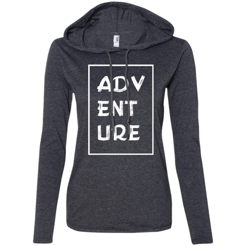 Adventure Travel Ladies' T-Shirt Hoodie - The Art Of Travel Store: Travel Accessories, Travel Clothes, Travel Gear