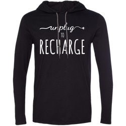 Unplug to Recharge Men's Travel T-Shirt Hoodie - The Art Of Travel Store: Travel Accessories, Travel Clothes, Travel Gear