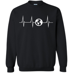 Heartbeat Globe Men's Pullover Sweatshirt - The Art Of Travel Store: Travel Accessories and Travel T-Shirts