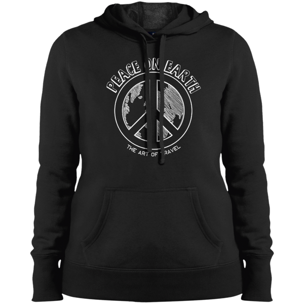 Peace on Earth Ladies Pullover Hooded Sweatshirt - The Art Of Travel Store: Travel Accessories and Travel T-Shirts
