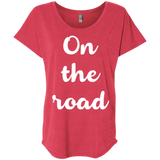 On The Road Women's Travel T-Shirt - The Art Of Travel Store: Travel Accessories, Travel Clothes, Travel Gear
