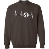 Heartbeat Globe Men's Pullover Sweatshirt - The Art Of Travel Store: Travel Accessories, Travel Clothes, Travel Gear