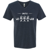 United We Win Men's Global Peace V-Neck Tee - The Art Of Travel Store: Travel Accessories, Travel Clothes, Travel Gear