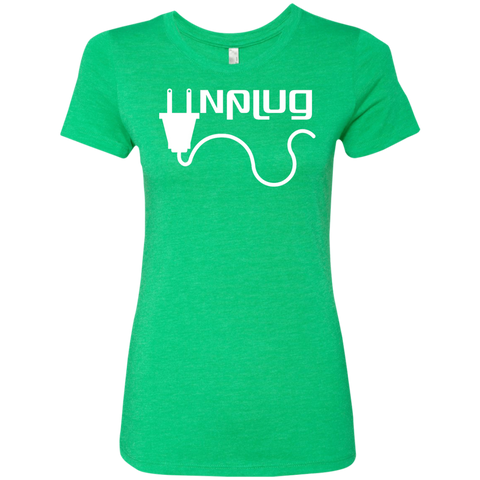 Unplug Womens Travel T-Shirt - The Art Of Travel Store: Travel Accessories, Travel Clothes, Travel Gear