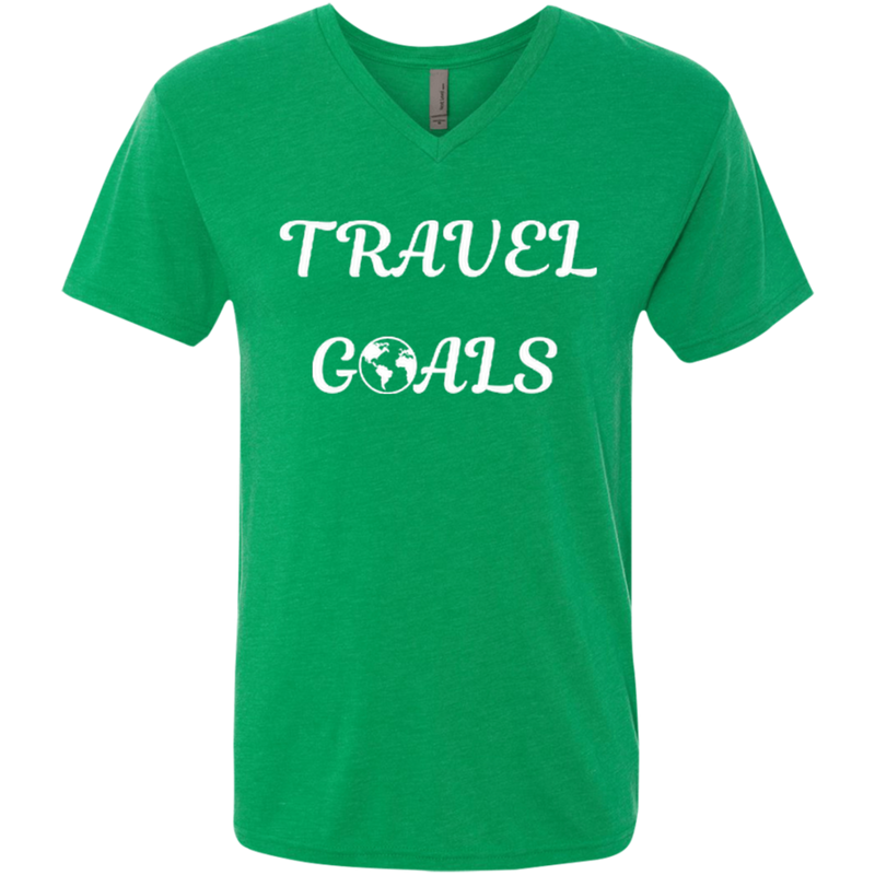 Travel Goals Men's Triblend V-Neck T-Shirt - The Art Of Travel