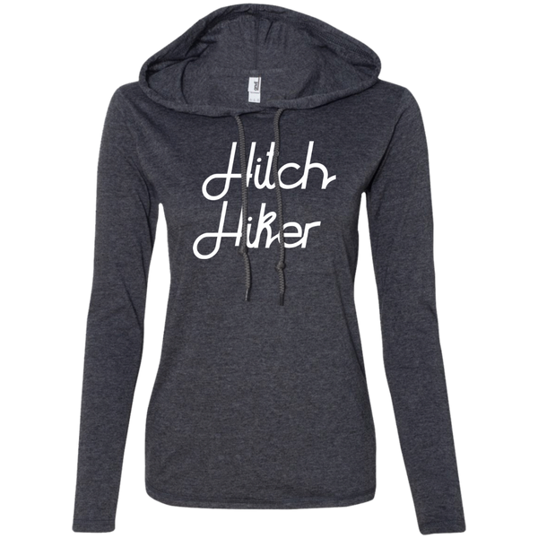 Hitchhiker Ladies' T-Shirt Hoodie - The Art Of Travel Store: Travel Accessories, Travel Clothes, Travel T-Shirts