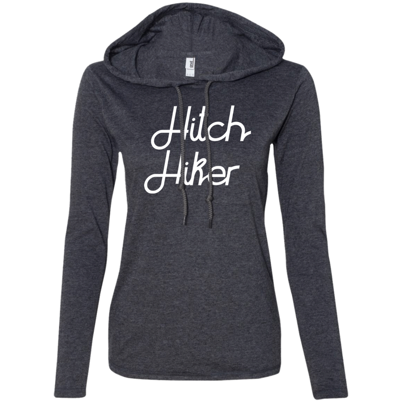 Hitchhiker Ladies' T-Shirt Hoodie - The Art Of Travel Store: Travel Accessories and Travel T-Shirts