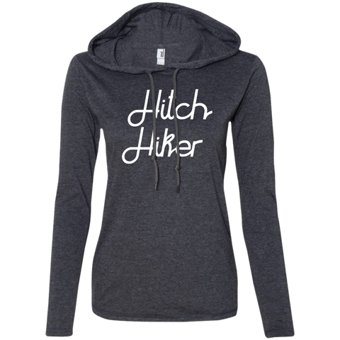 Hitchhiker Ladies' T-Shirt Hoodie - The Art Of Travel Store: Travel Accessories, Travel Clothes, Travel Gear