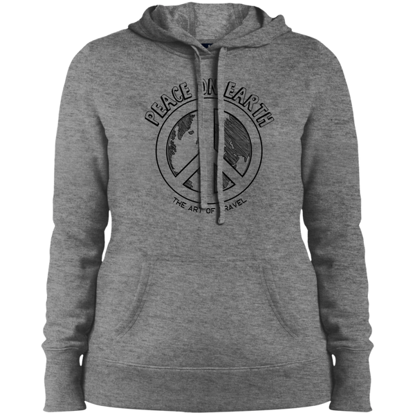 Peace on Earth Women's Pullover Hoodie - The Art Of Travel Store: Travel Accessories and Travel T-Shirts