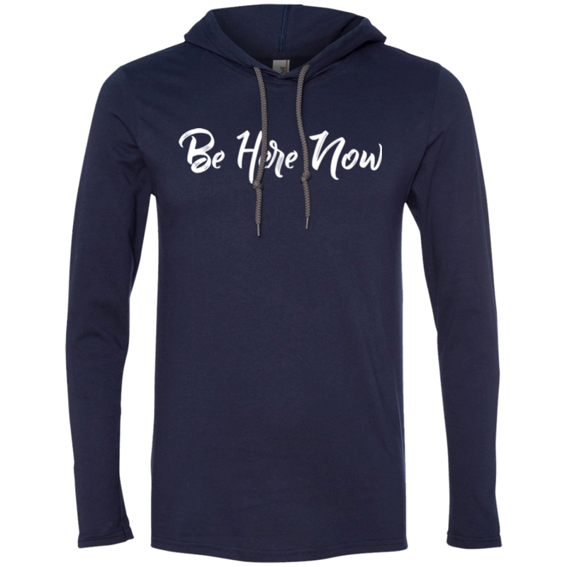 Be Here Now Men's Travel T-Shirt Hoodie - The Art Of Travel Store: Travel Accessories and Travel T-Shirts