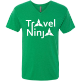 Travel Ninja Men's V-Neck T-Shirt - The Art Of Travel Store: Travel Accessories, Travel Clothes, Travel Gear