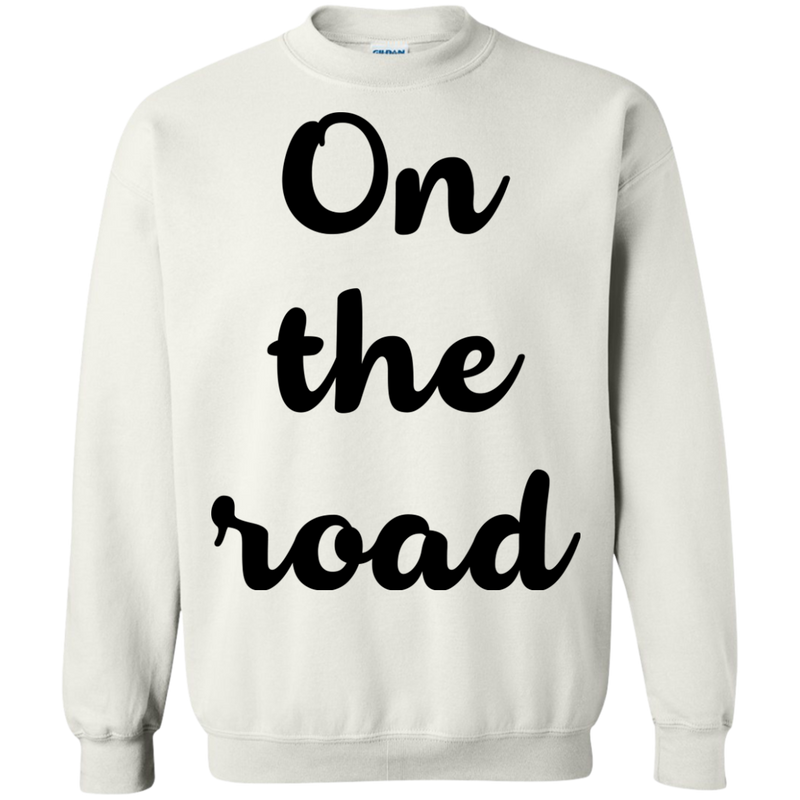 On the Road Men's Crewneck Pullover Sweatshirt - The Art Of Travel Store: Travel Accessories and Travel T-Shirts