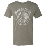 Peace on Earth Men's Travel Triblend Tee - The Art Of Travel Store: Travel Accessories, Travel Clothes, Travel Gear