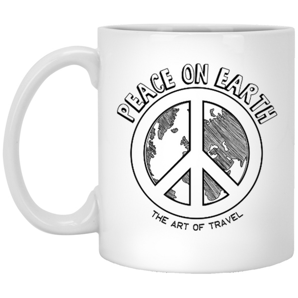 Peace on Earth 11 oz. Mug - The Art Of Travel Store: Travel Accessories, Travel Clothes, Travel T-Shirts