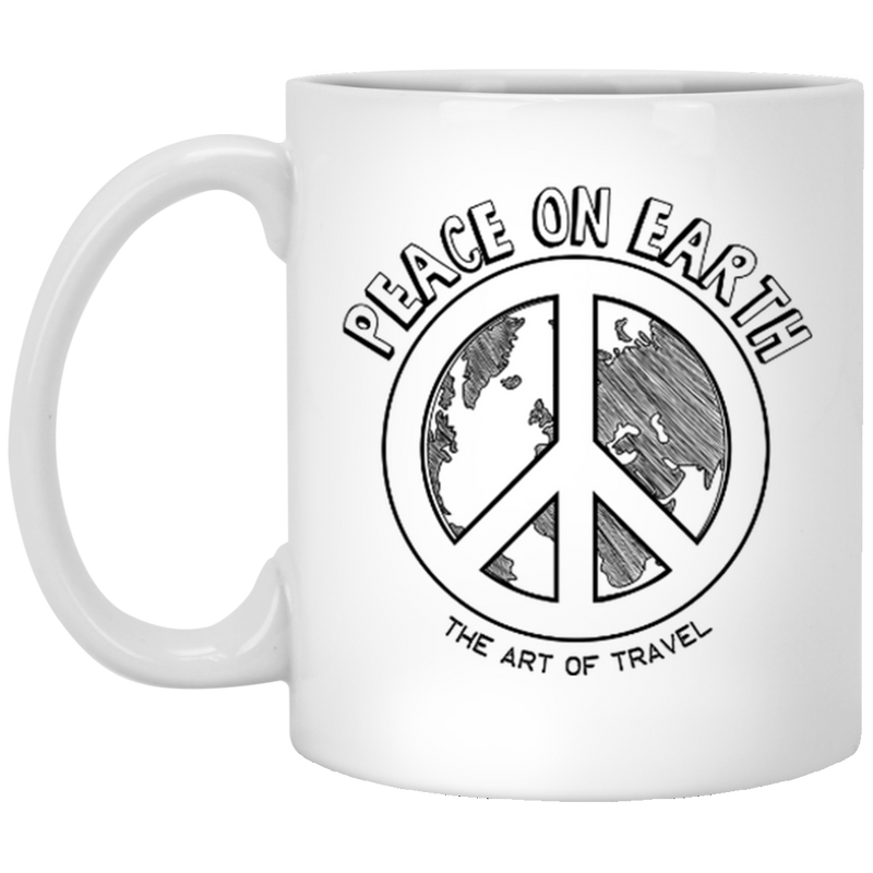Peace on Earth 11 oz. Mug - The Art Of Travel Store: Travel Accessories and Travel T-Shirts