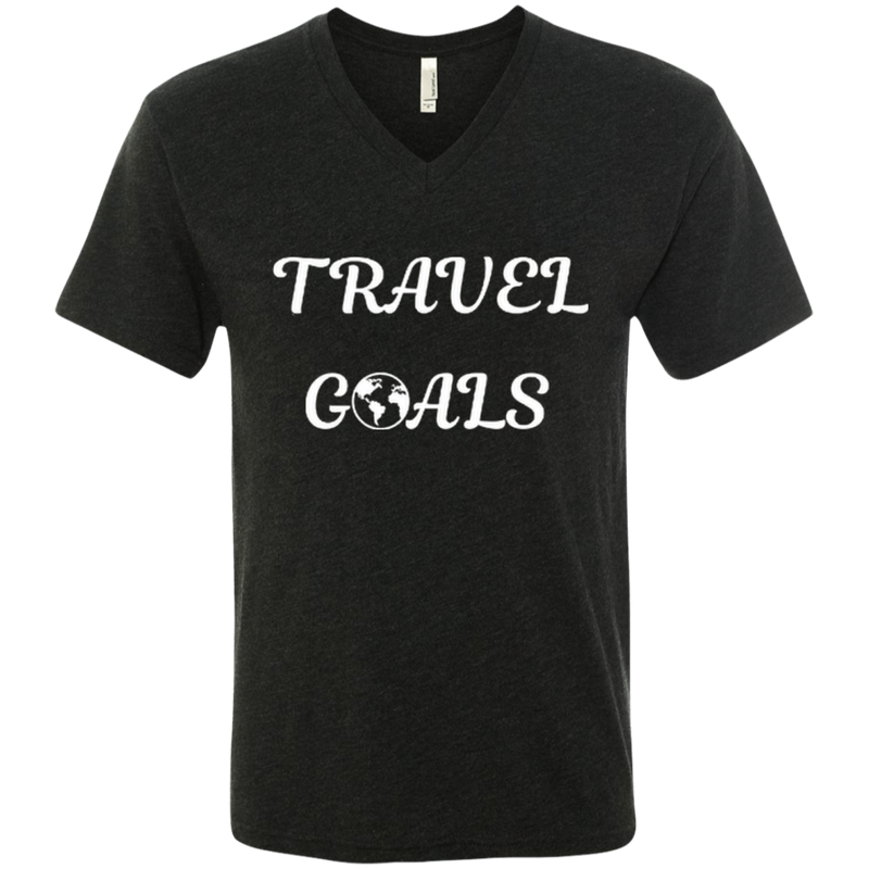 Travel Goals Men's Triblend V-Neck T-Shirt - The Art Of Travel Store: Travel Accessories and Travel T-Shirts