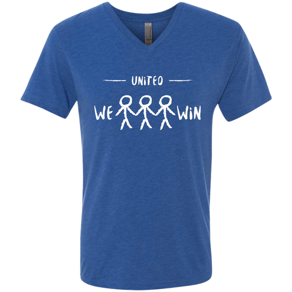 United We Win Men's Global Peace V-Neck Tee - The Art Of Travel Store: Travel Accessories and Travel T-Shirts