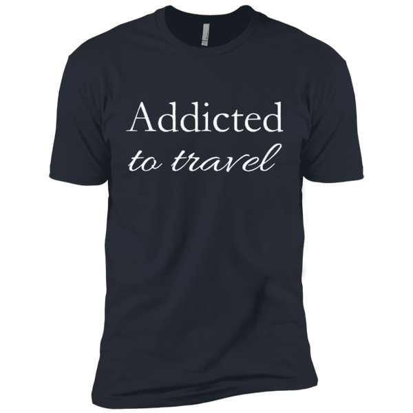 Addicted to Travel Premium 100% Cotton T-Shirt - The Art Of Travel