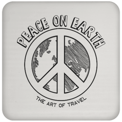 Peace on Earth Sqaure Coaster - The Art Of Travel