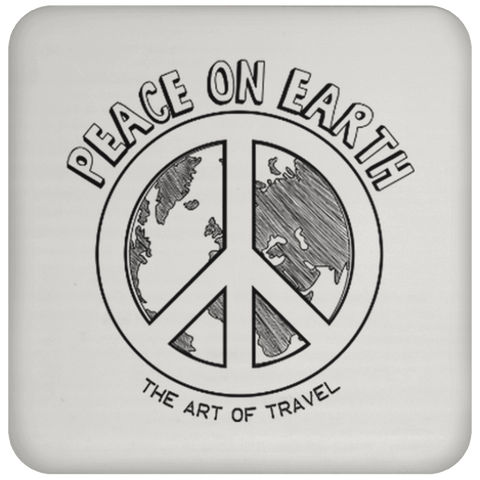 Peace on Earth Sqaure Coaster - The Art Of Travel Store: Travel Accessories, Travel Clothes, Travel Gear