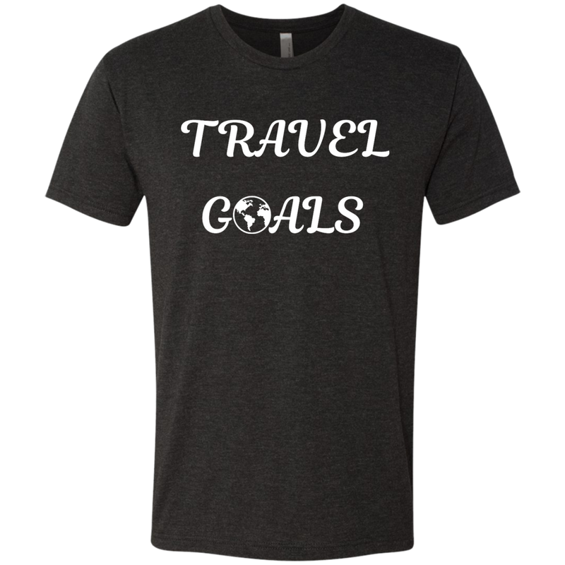 Travel Goals Men's Wanderlust T-Shirt - The Art Of Travel Store: Travel Accessories and Travel T-Shirts