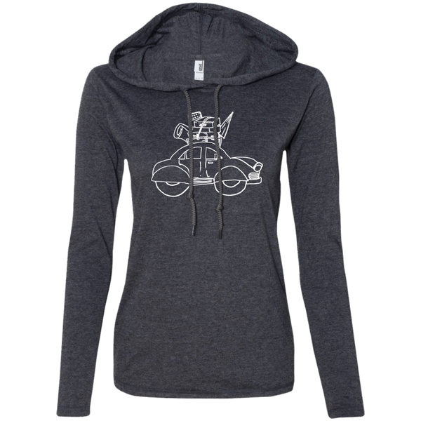 Ladies' T-Shirt Hoodie - The Art Of Travel Store: Travel Accessories and Travel T-Shirts
