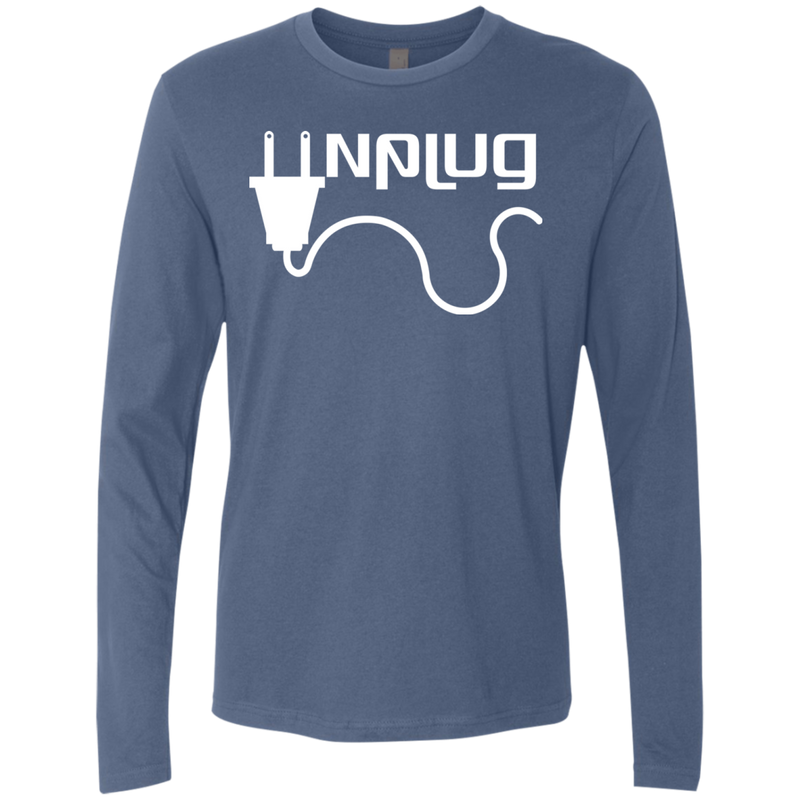 Unplug and Travel the World Men's Long Sleeve T-Shirt - The Art Of Travel Store: Travel Accessories and Travel T-Shirts