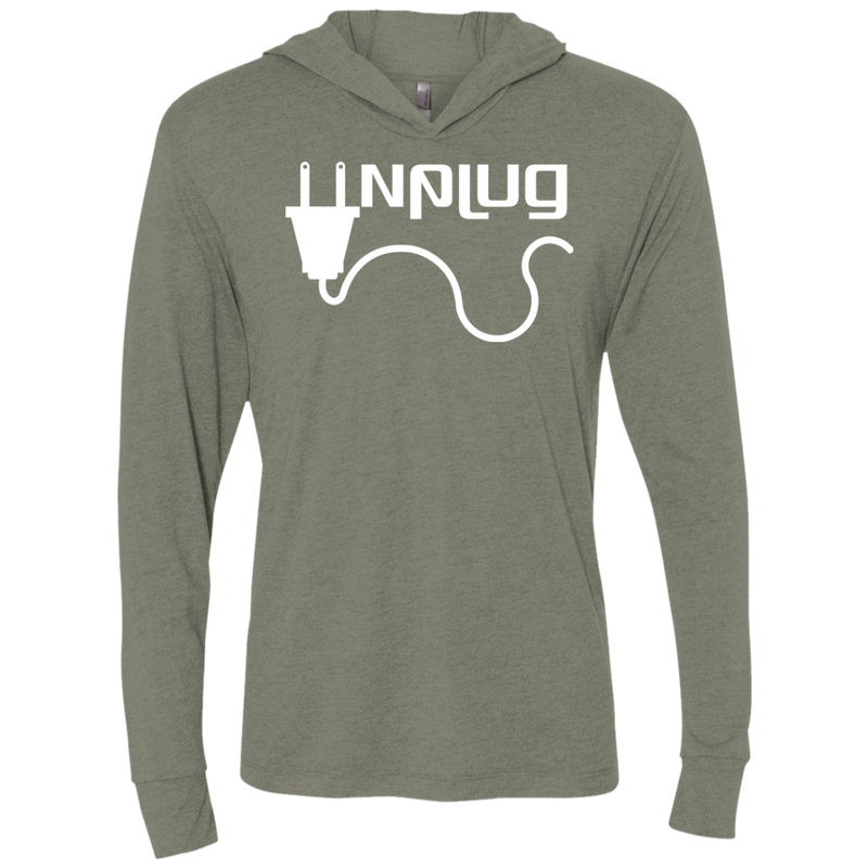 Unplug Off the Grid Hooded T-Shirt Hoodie - The Art Of Travel Store: Travel Accessories, Travel Clothes, Travel Gear
