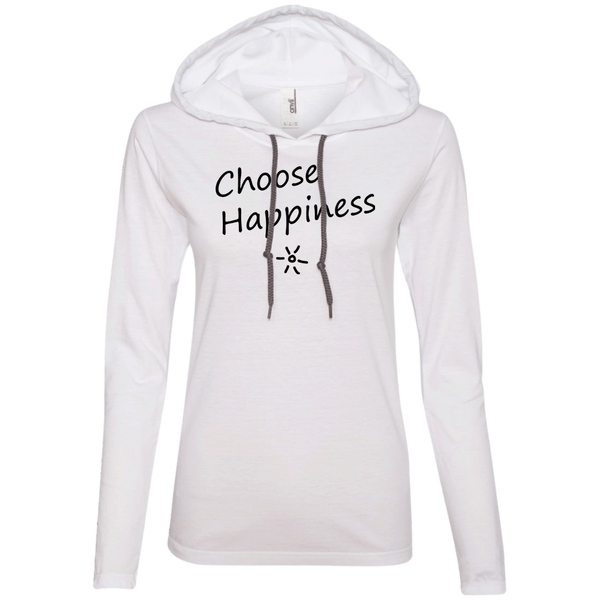 Choose Happiness Ladies T-Shirt Hoodie - The Art Of Travel