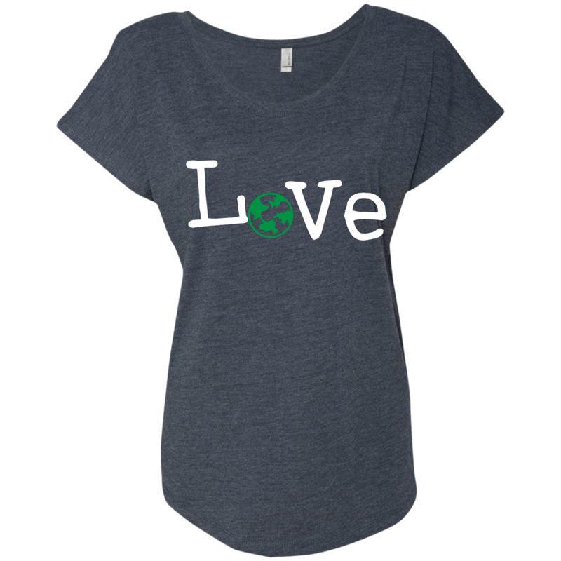 Love Travel Green Globe Women's T-Shirt - The Art Of Travel Store: Travel Accessories and Travel T-Shirts