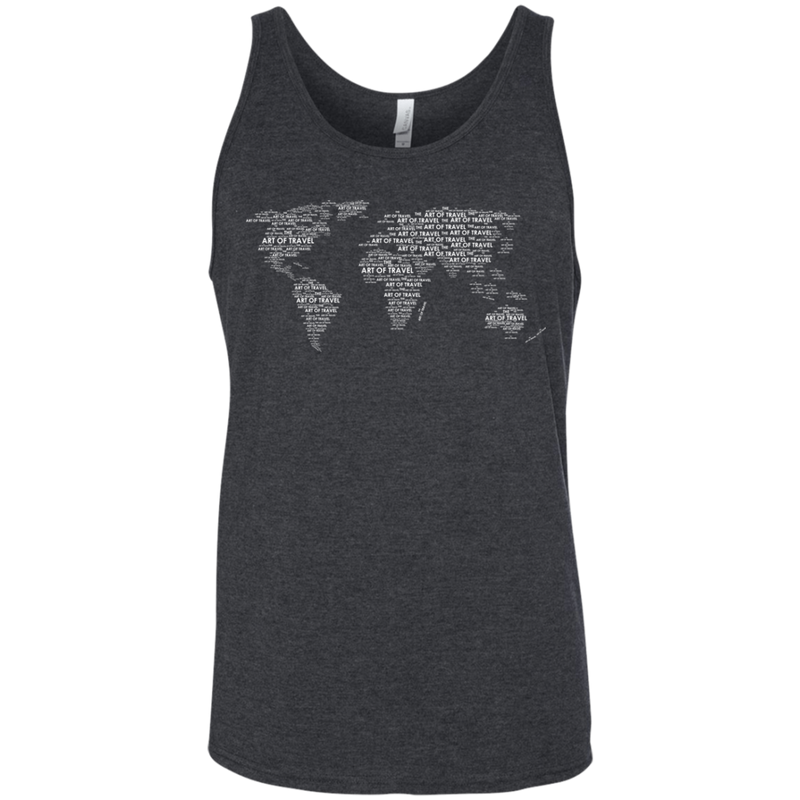 Art of Travel World Map Men's Travel Tank - The Art Of Travel Store: Travel Accessories and Travel T-Shirts