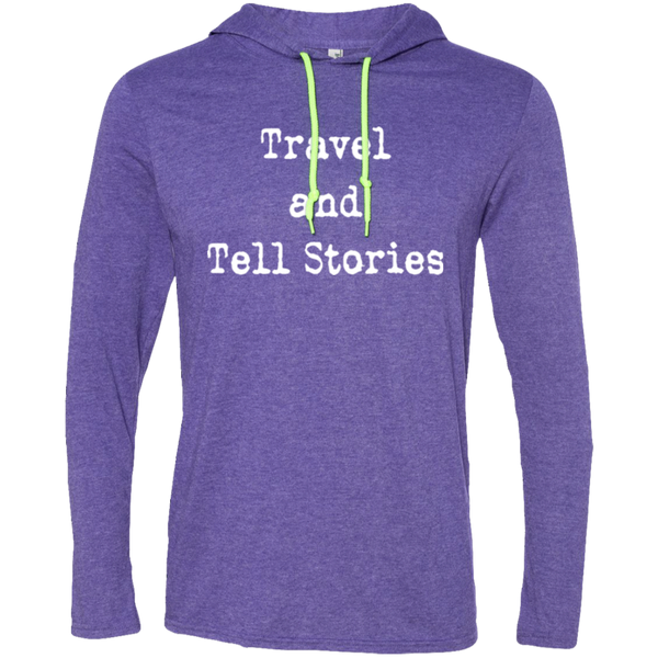 Travel & Tell Stories Men's T-Shirt Hoodie - The Art Of Travel Store: Travel Accessories, Travel Clothes, Travel T-Shirts
