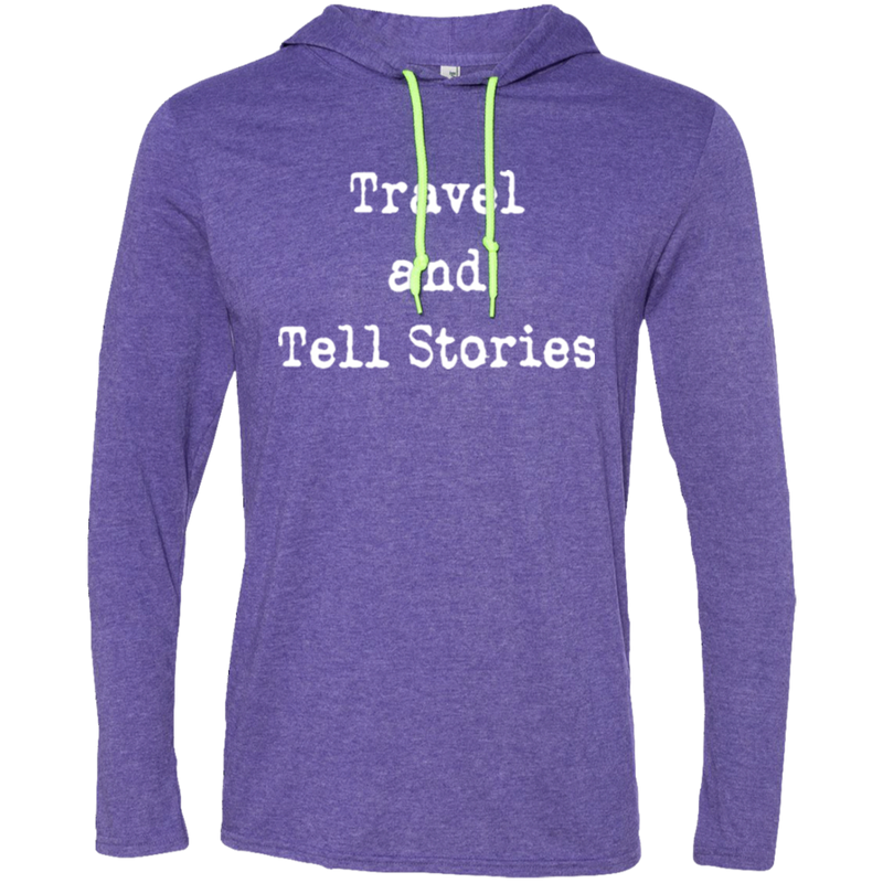 Travel & Tell Stories Men's T-Shirt Hoodie - The Art Of Travel Store: Travel Accessories and Travel T-Shirts