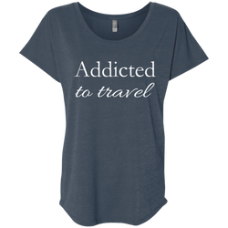 Addicted to Travel Womens T-Shirt - The Art Of Travel