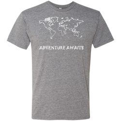 Adventure Awaits Men's World Travel T-Shirt - The Art Of Travel Store: Travel Accessories and Travel T-Shirts