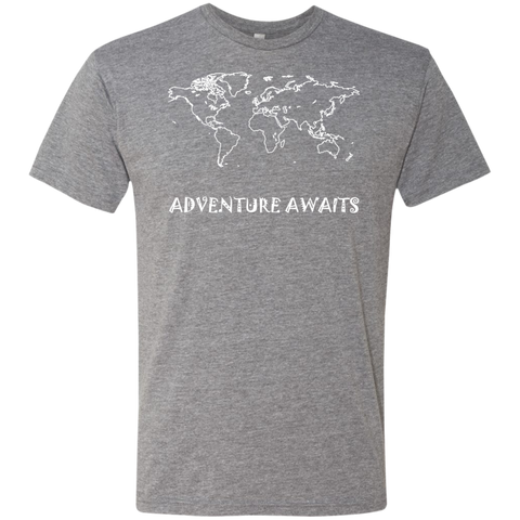 Adventure Awaits Men's World Travel T-Shirt