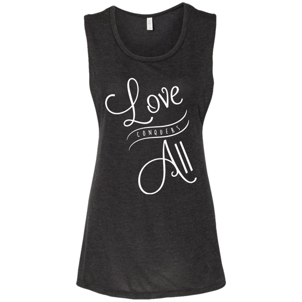 Love Conquers All Ladies' Beach Muscle Tank - The Art Of Travel Store: Travel Accessories, Travel Clothes, Travel Gear