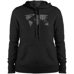 World Travel Women Pullover Hooded Sweatshirt - The Art Of Travel Store: Travel Accessories and Travel T-Shirts