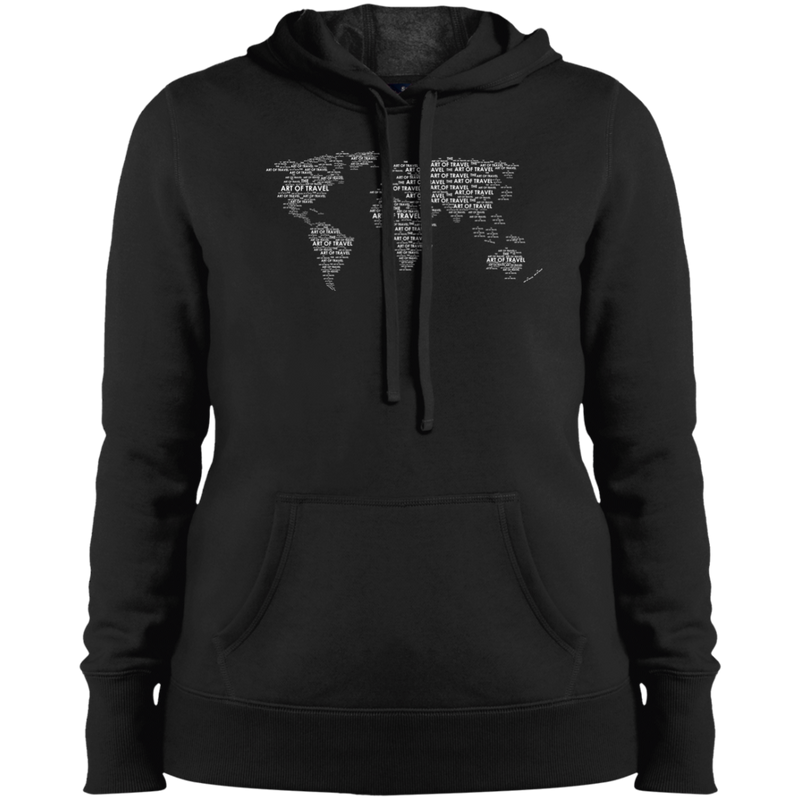 World Travel Women Pullover Hooded Sweatshirt - The Art Of Travel Store: Travel Accessories, Travel Clothes, Travel Gear