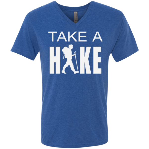 Take a Hike Men's Triblend Travel V-Neck Tee - The Art Of Travel Store: Travel Accessories and Travel T-Shirts