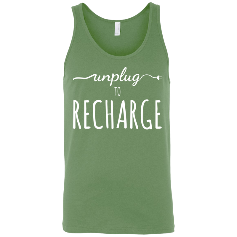 Unplug to Recharge Men's Travel Tank - The Art Of Travel Store: Travel Accessories and Travel T-Shirts