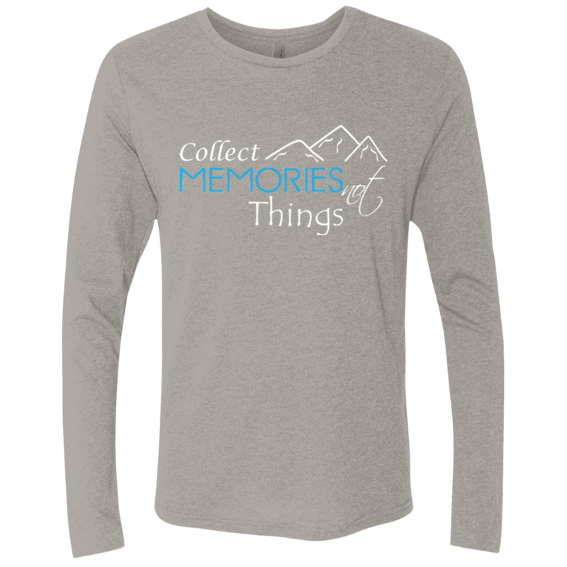 Collect Memories Not Things Men's Long Sleeve T-Shirt - The Art Of Travel Store: Travel Accessories and Travel T-Shirts