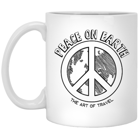 Peace on Earth 11 oz. Mug - The Art Of Travel Store: Travel Accessories, Travel Clothes, Travel Gear