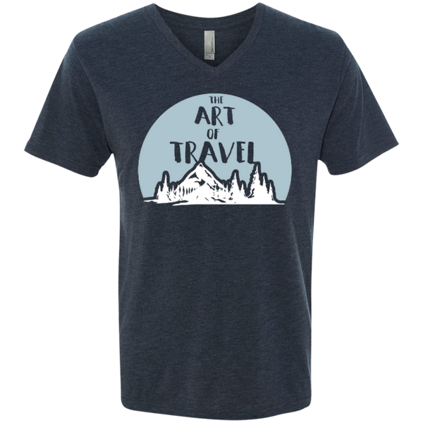 The Art of Travel Men's V-Neck T-Shirt - The Art Of Travel Store: Travel Accessories and Travel T-Shirts