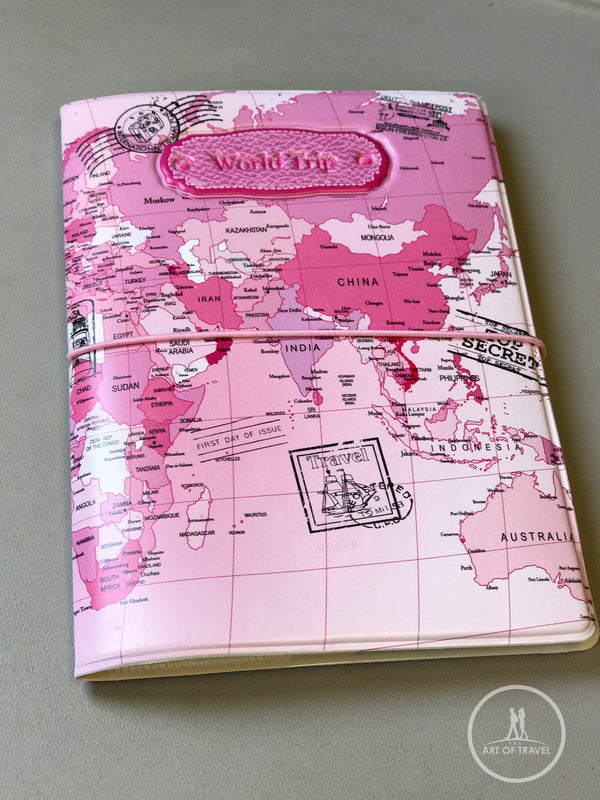 Passport Cover World Map Travel Cards Holder Case - The Art Of Travel Store: Travel Accessories and Travel T-Shirts