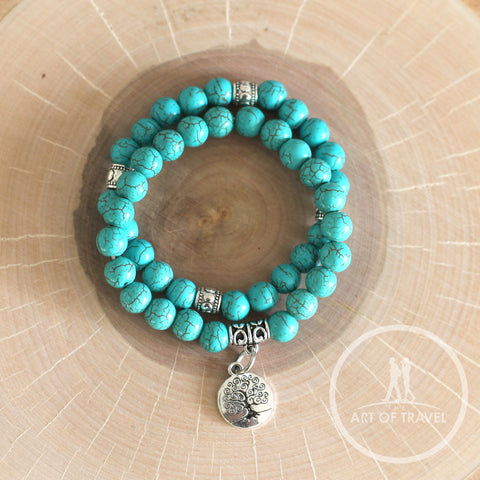 Tree of Life Healing Yoga Mala Peace Bracelet - The Art Of Travel Store: Travel Accessories, Travel Clothes, Travel Gear