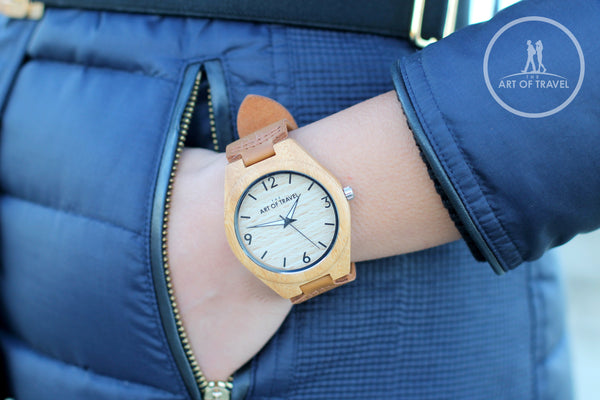 Eco-Friendly Wood Watch Wanderlust Limited Edition - The Art Of Travel
