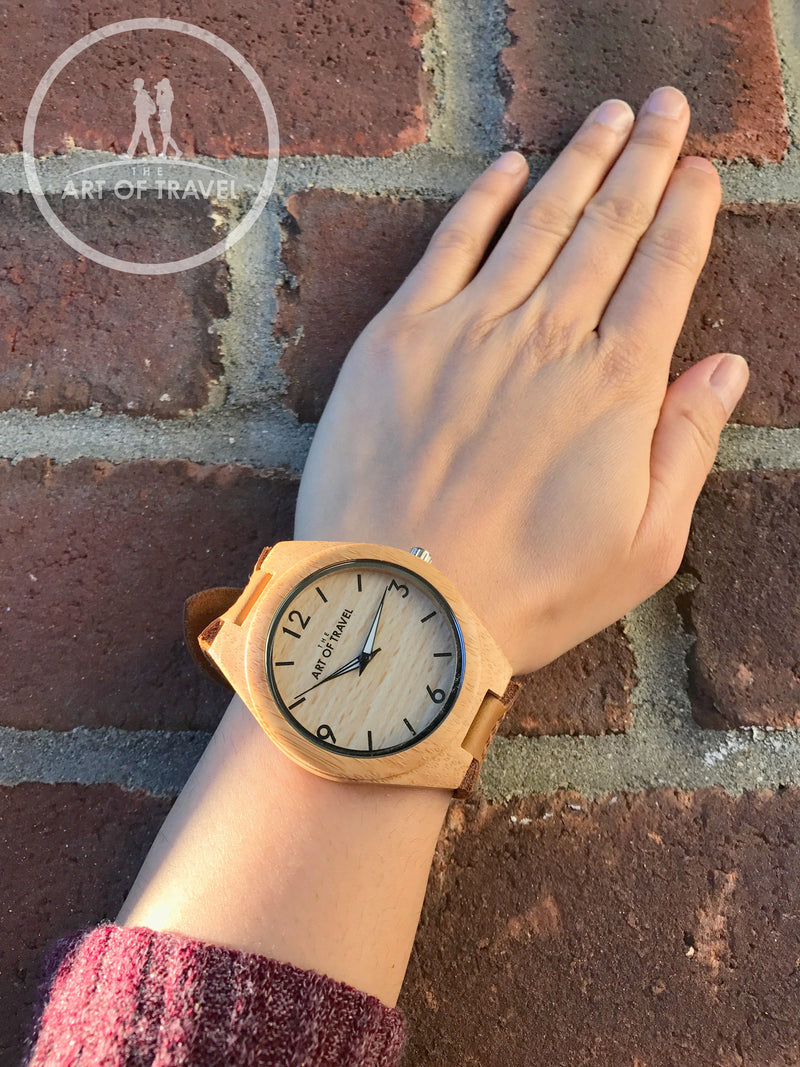 Eco-Friendly Wood Watch Wanderlust Limited Edition - The Art Of Travel Store: Travel Accessories and Travel T-Shirts