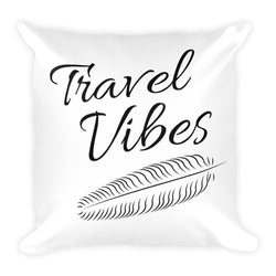Travel Vibes Explore the World Pillow - The Art Of Travel Store: Travel Accessories, Travel Clothes, Travel Gear