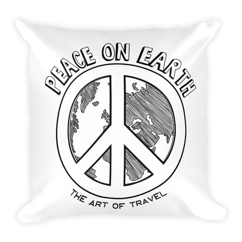 Peace on Earth Global Citizen Travel Pillow - The Art Of Travel Store: Travel Accessories, Travel Clothes, Travel Gear